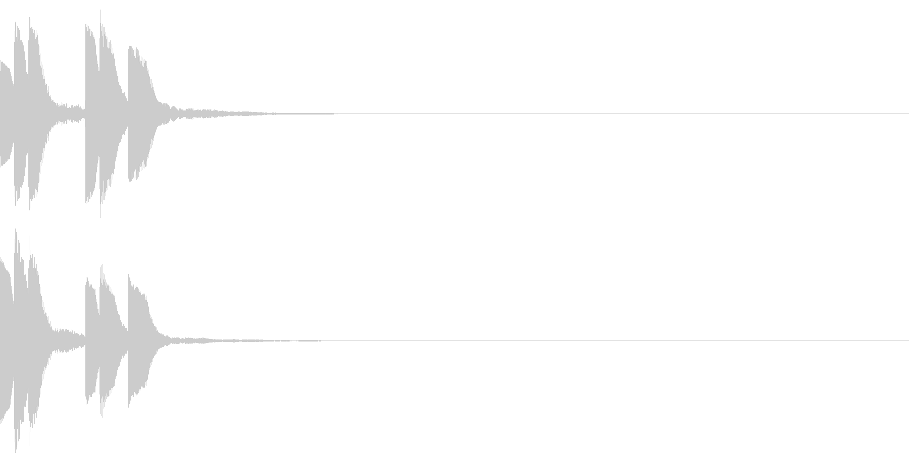 Anime ゆるかわアイキャッチ 3の未再生の波形