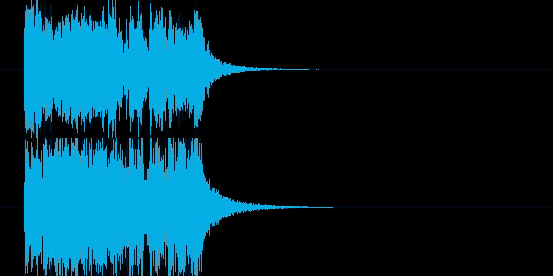 不穏な雰囲気のアタックジングルの再生済みの波形