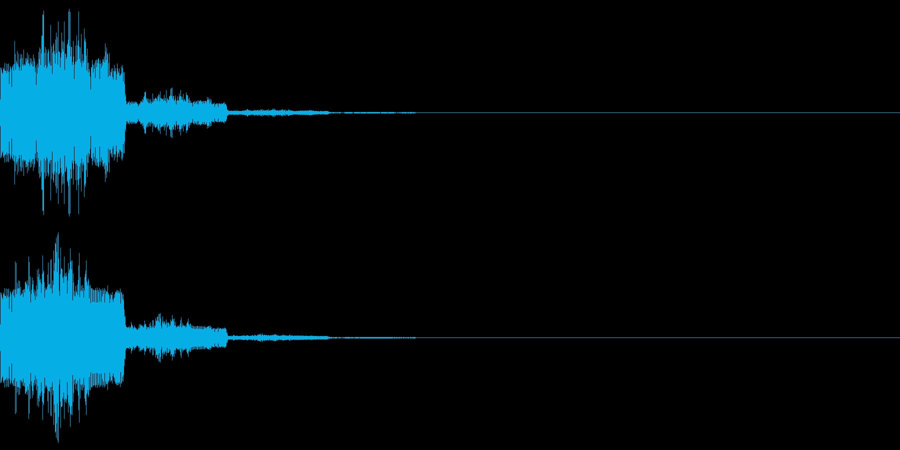 キャンセル音12(シンセ系Q)の再生済みの波形