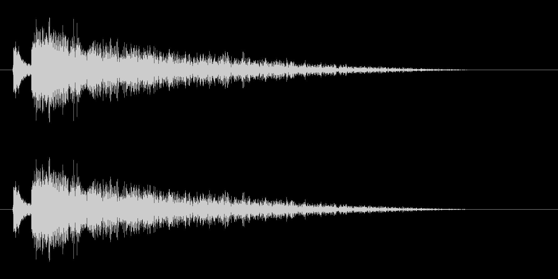 【雷 合成01-3】の未再生の波形