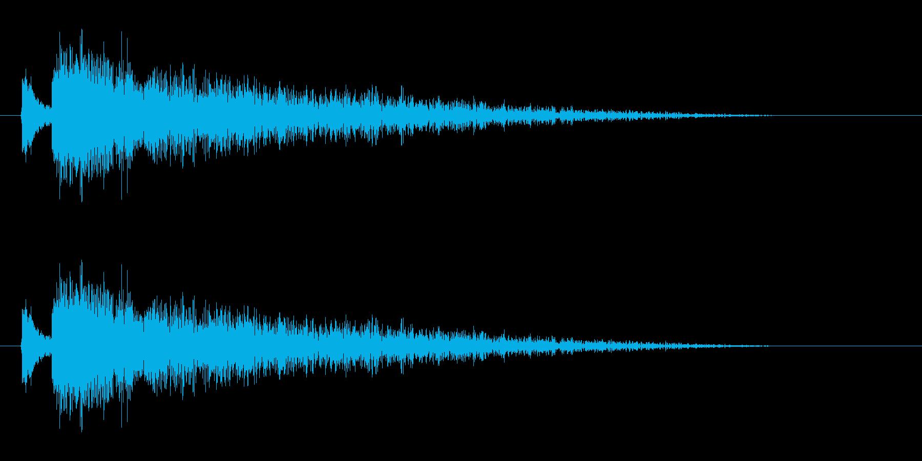 【雷 合成01-3】の再生済みの波形