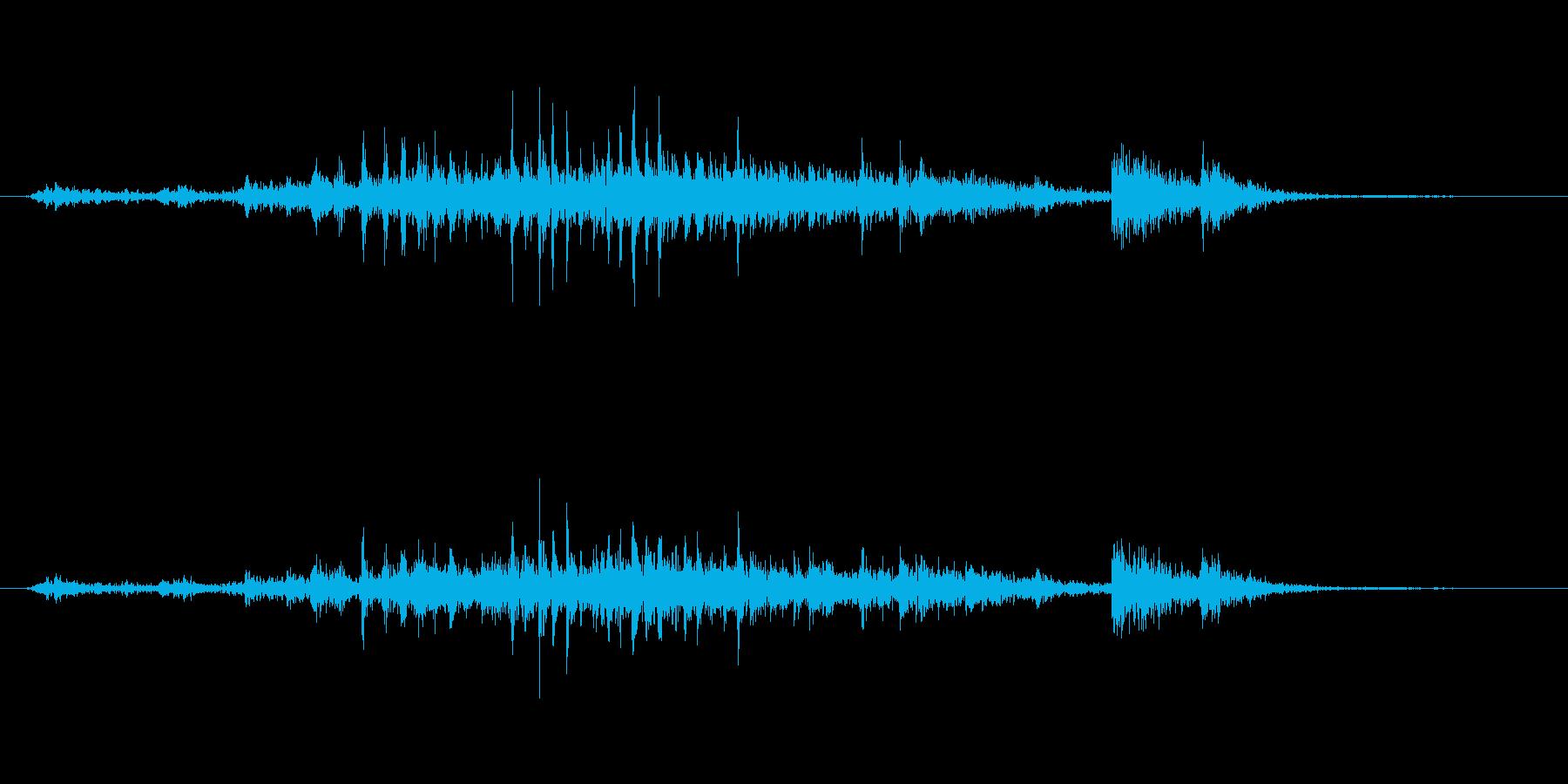 ガラガラの再生済みの波形