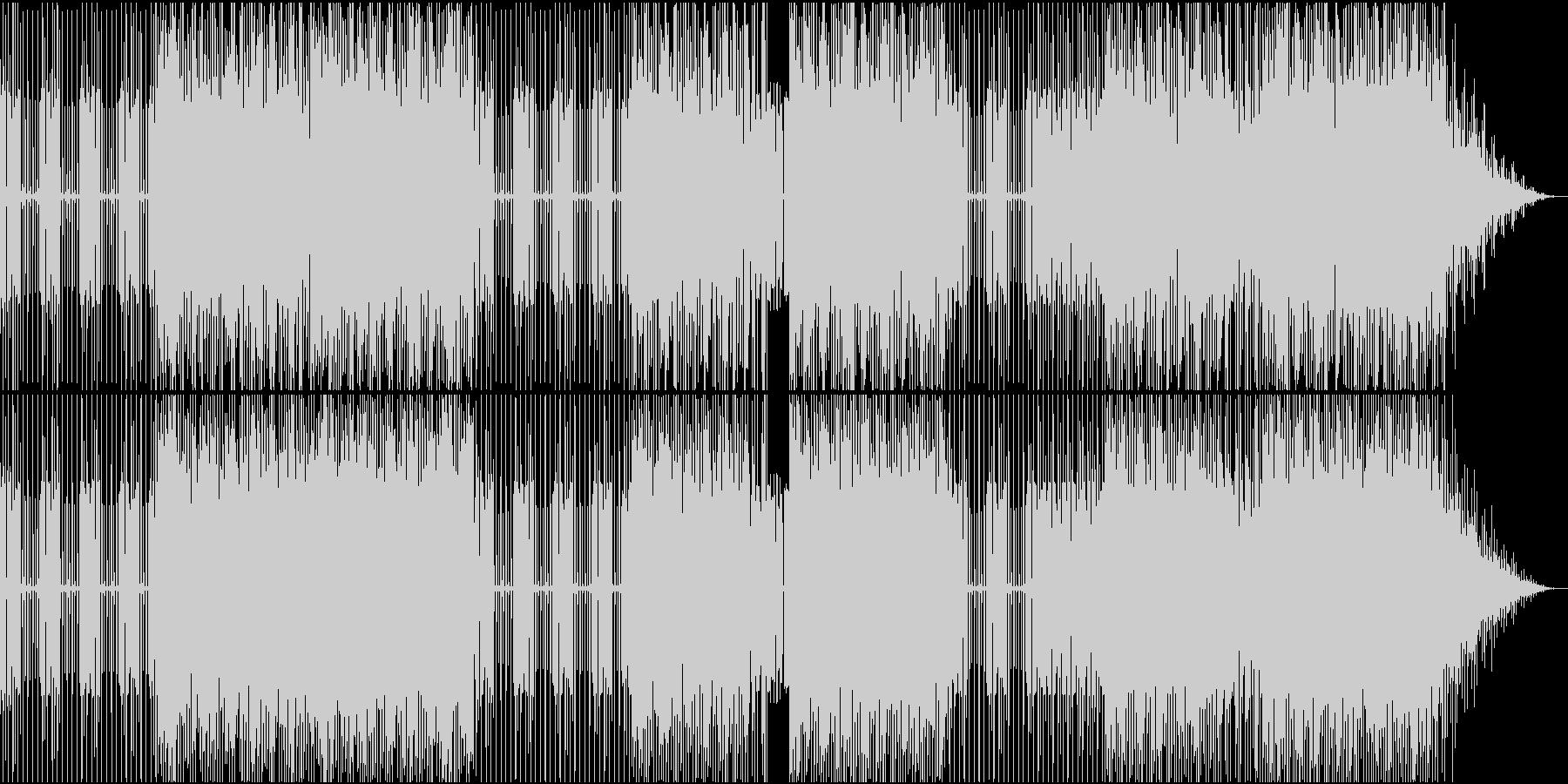 太いエレキベースが特徴のファンクハウスの未再生の波形