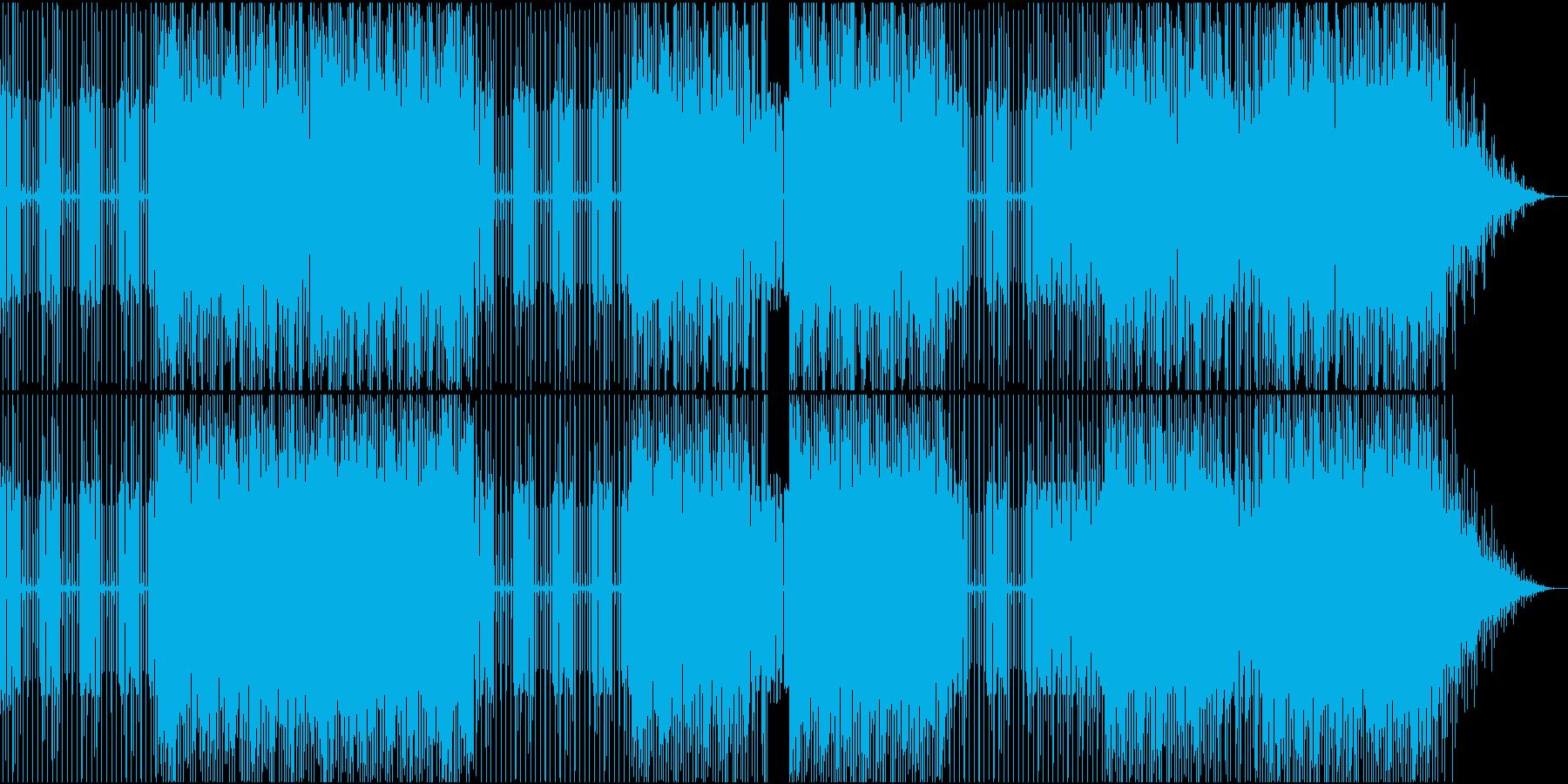 太いエレキベースが特徴のファンクハウスの再生済みの波形