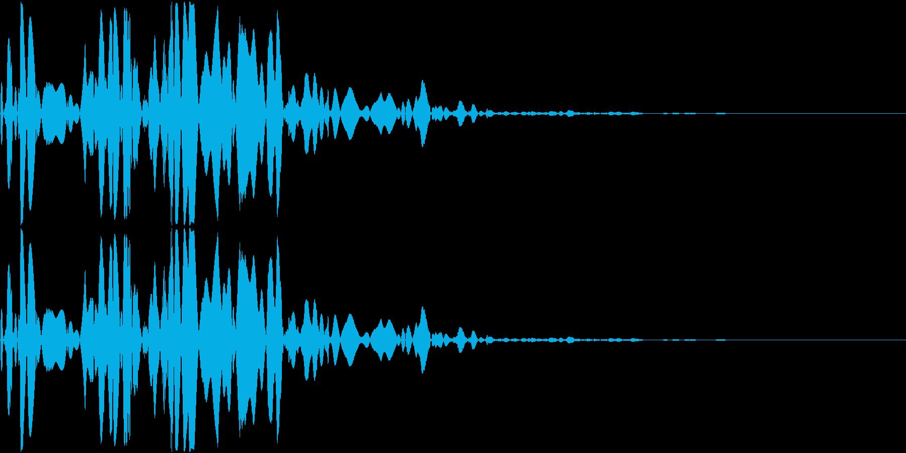 ベチャッ03(泥・液体系のアクション音)の再生済みの波形