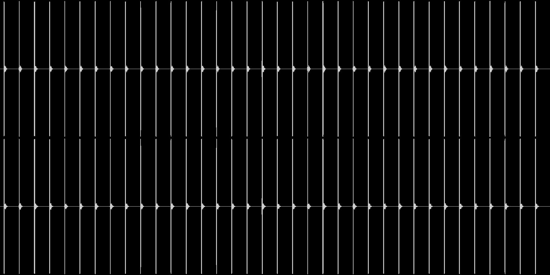 (ピッピッ)デジタル時計の秒針音の未再生の波形