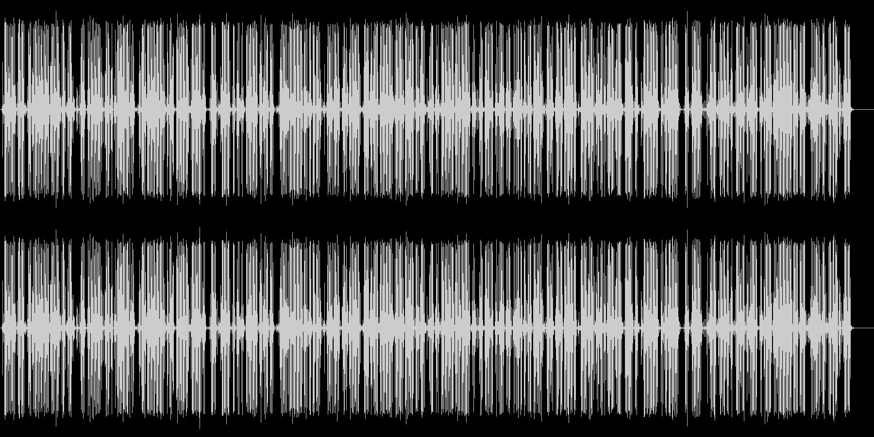 ビリビリ(電気が流れる音)の未再生の波形