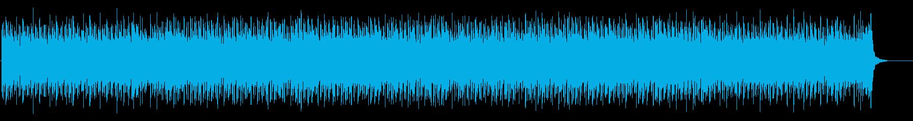 どこか寂しいエレクトロニカBGMの再生済みの波形