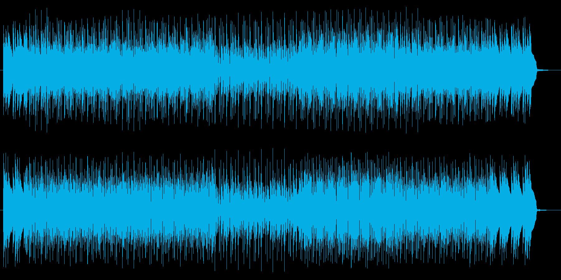 テクノポップとハードロックの融合の再生済みの波形