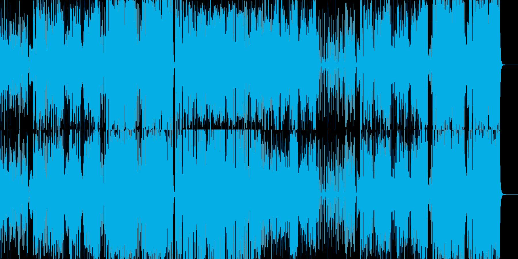 南国の陽気なボサノバ(コーラス入り)の再生済みの波形