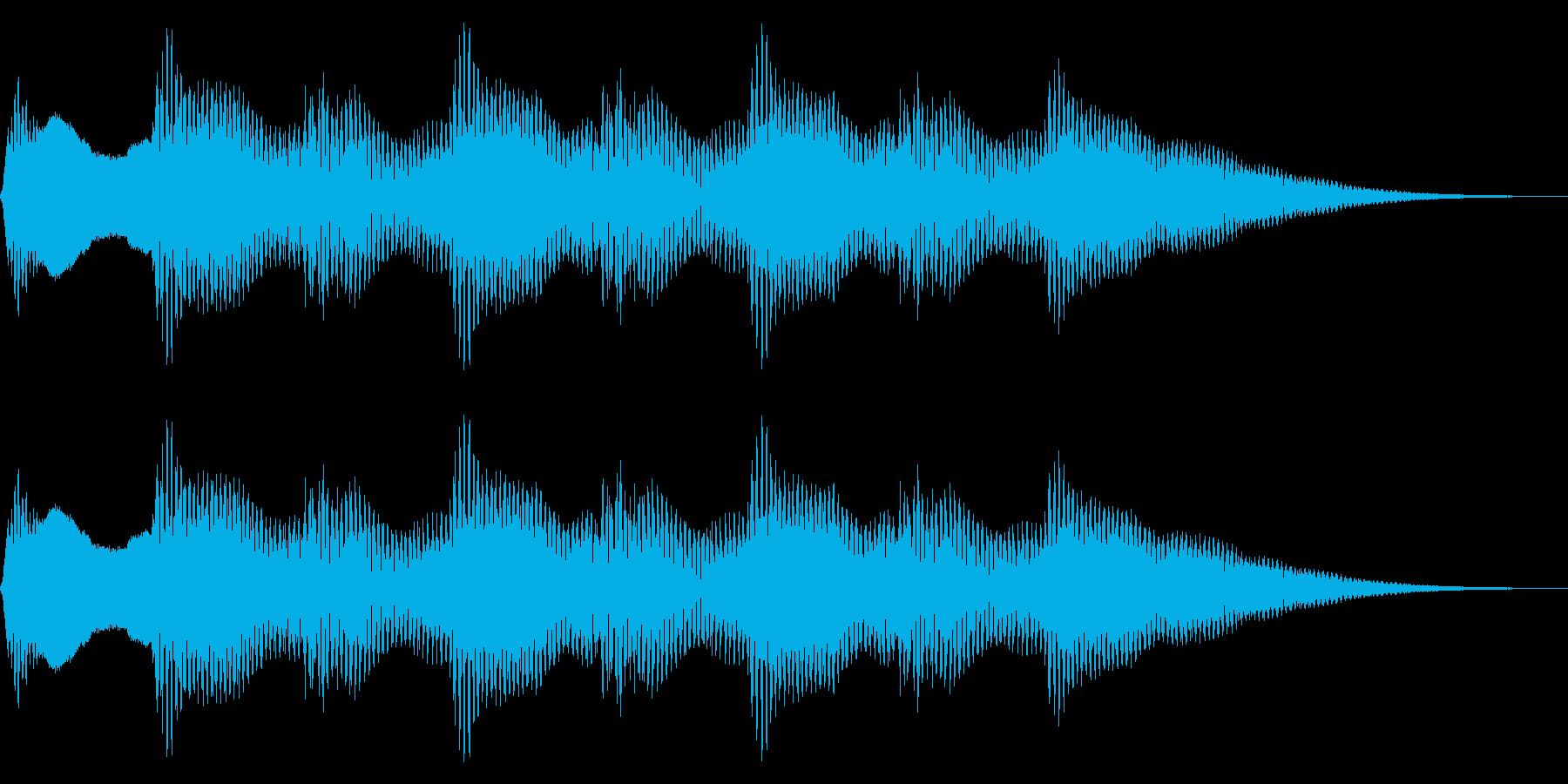 レトロなクイズ正解音 ピンポン4回 合格の再生済みの波形