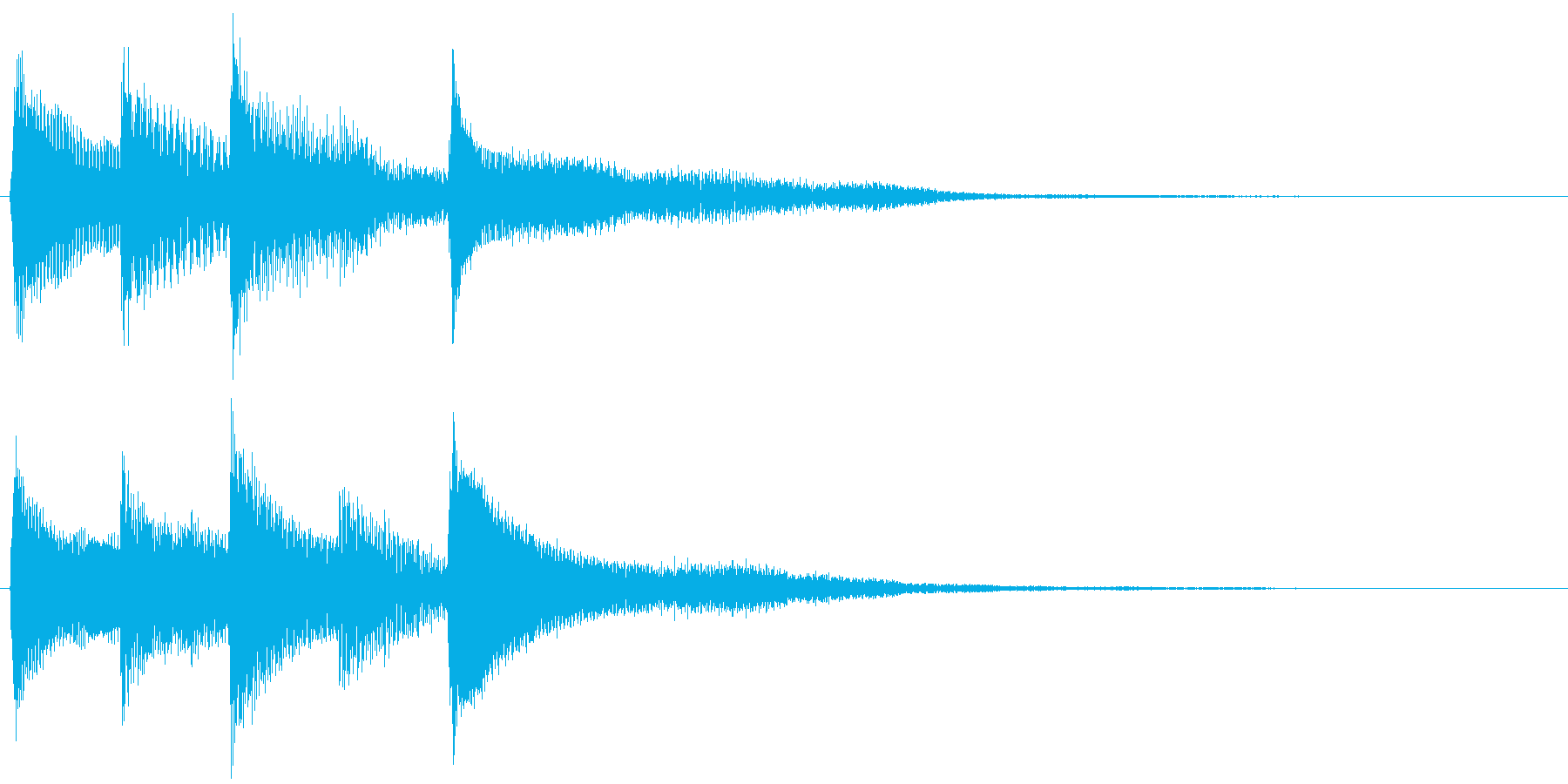 ピアノ転回音12・サウンドロゴの再生済みの波形