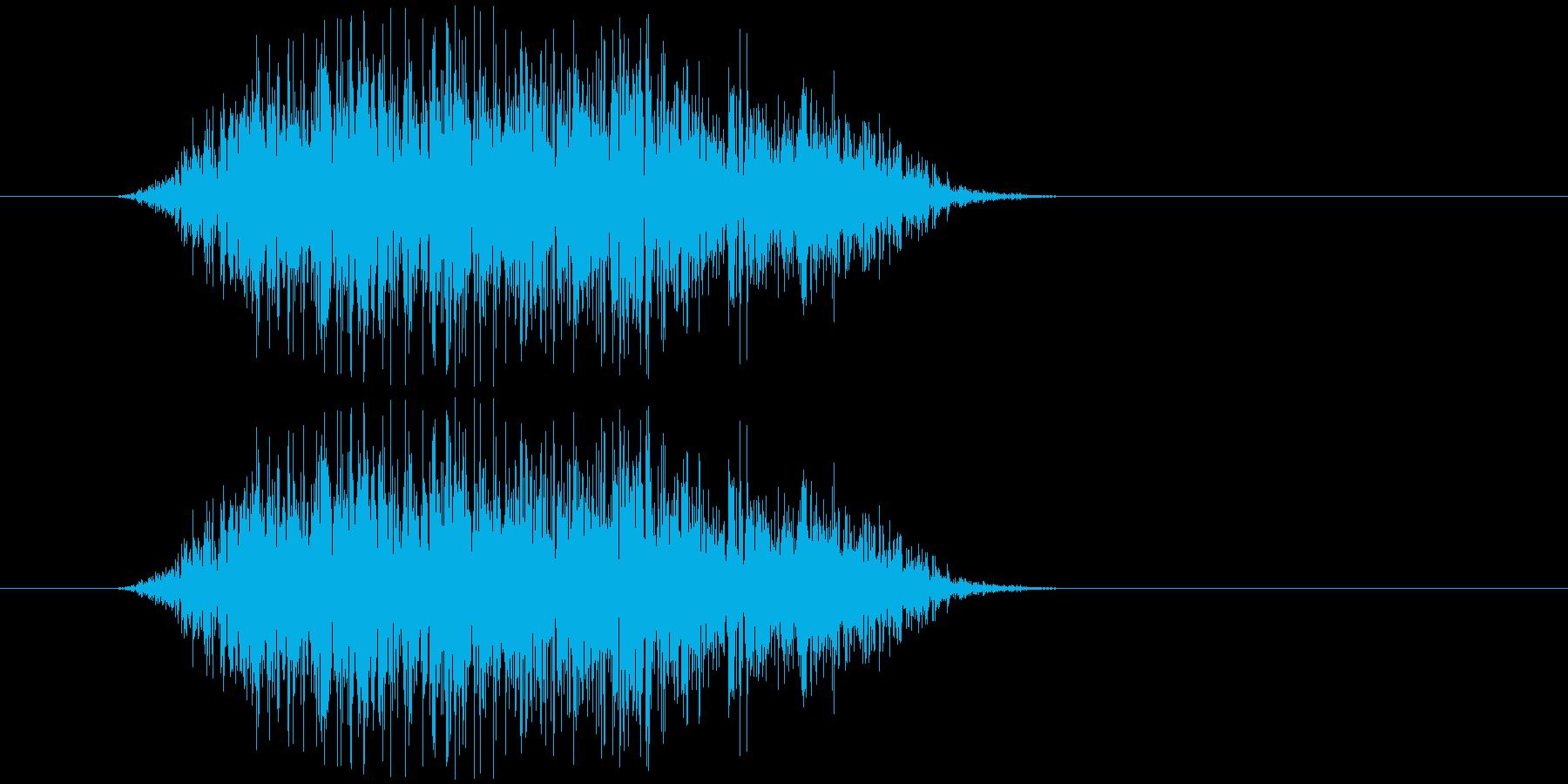 プシュ(炭酸ガス)の再生済みの波形
