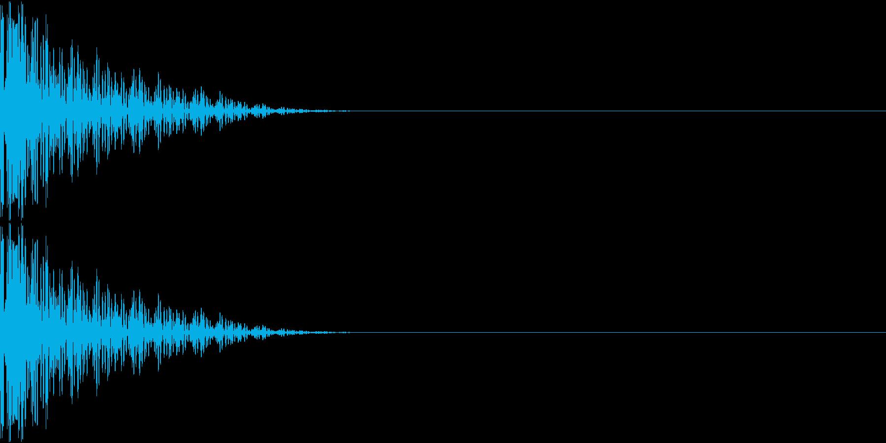 GameApp 選択音 バンッ!の再生済みの波形