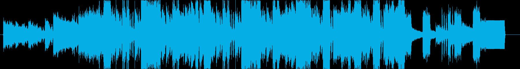ロック&ダブステップの高揚感満天BGMの再生済みの波形