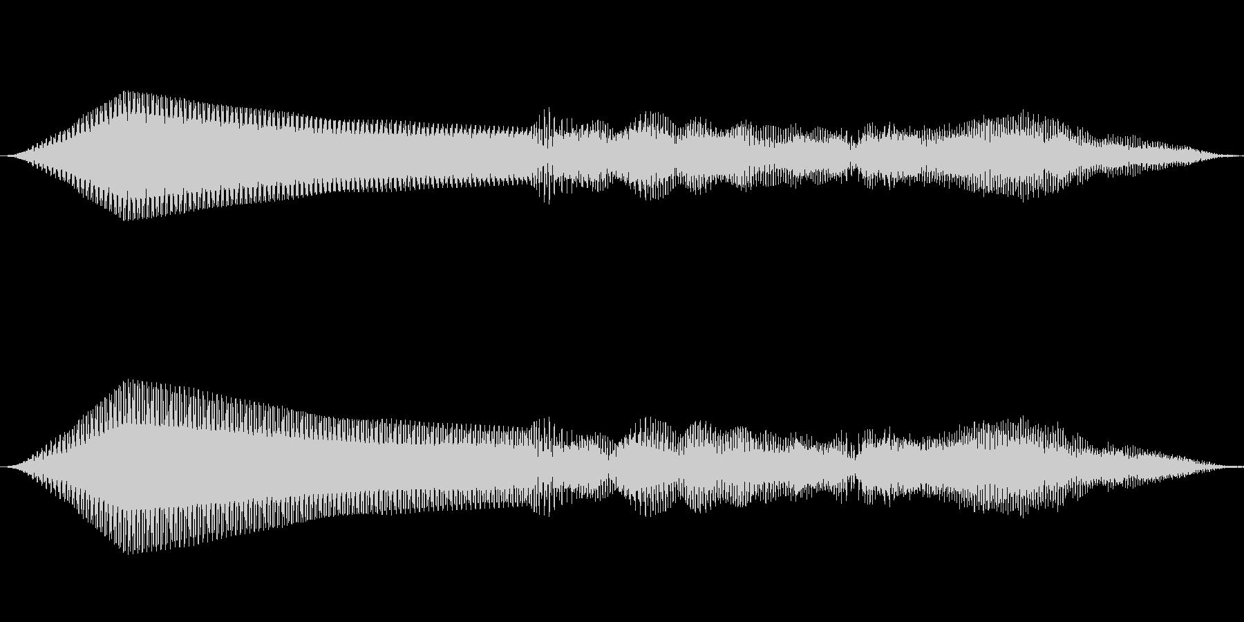 重低音シンセ 効果音 ブォーンの未再生の波形