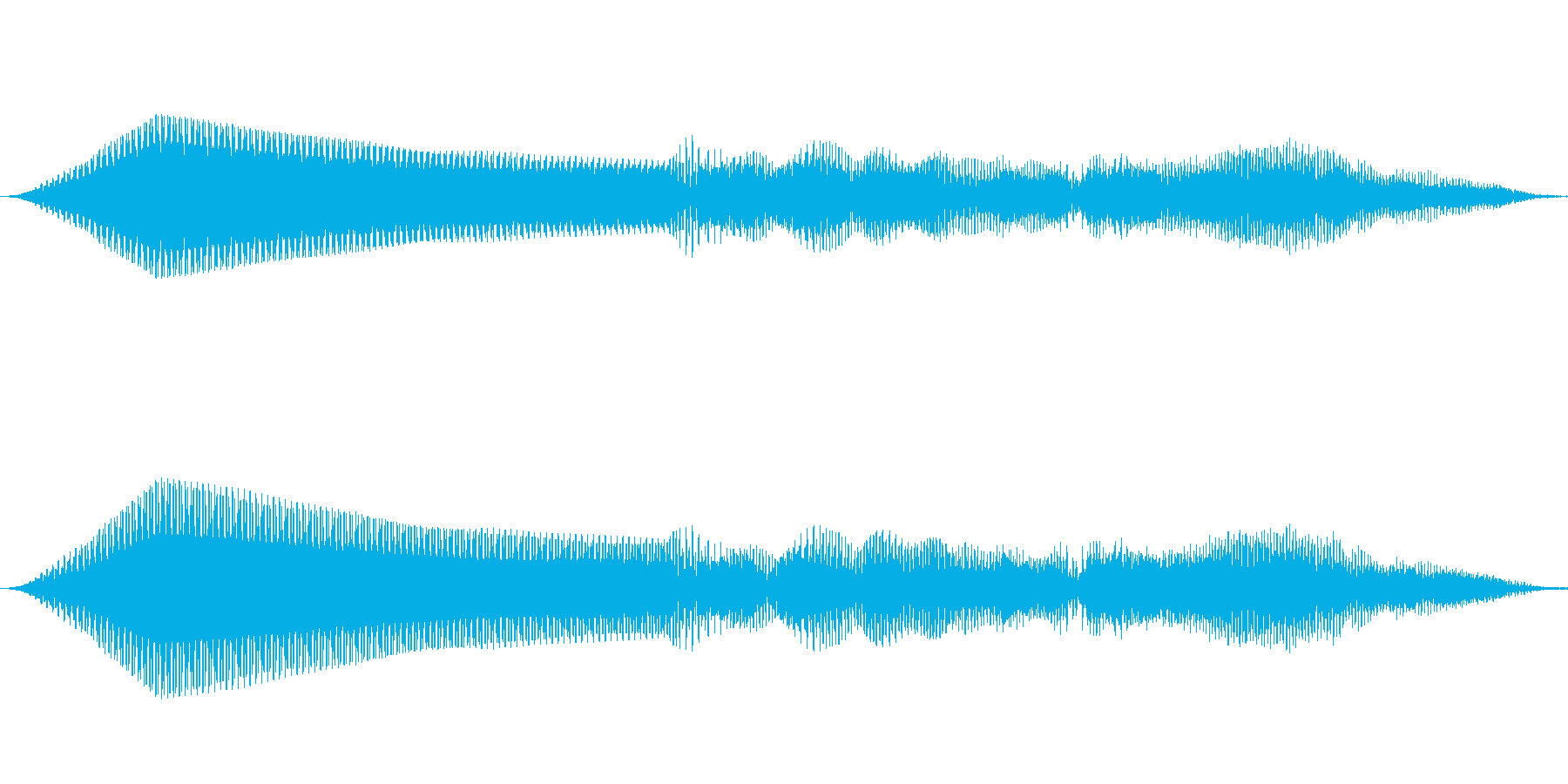 重低音シンセ 効果音 ブォーンの再生済みの波形