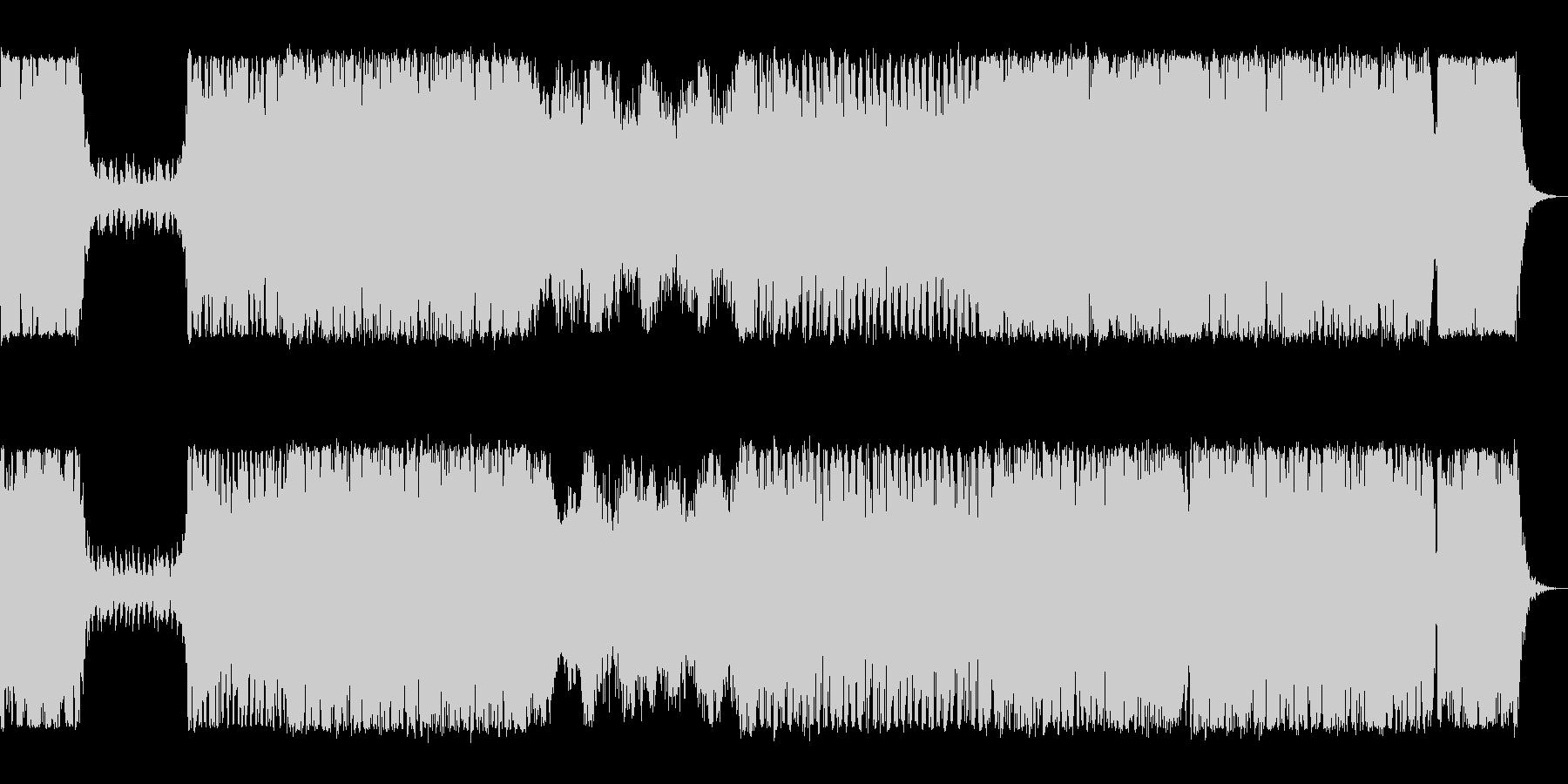 オーケストラ オープニング ボスキャラの未再生の波形