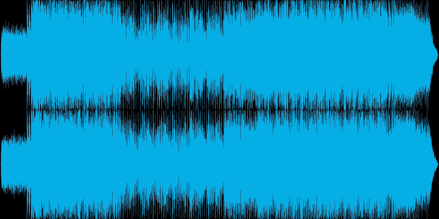 ポップでかわいいEDMの再生済みの波形