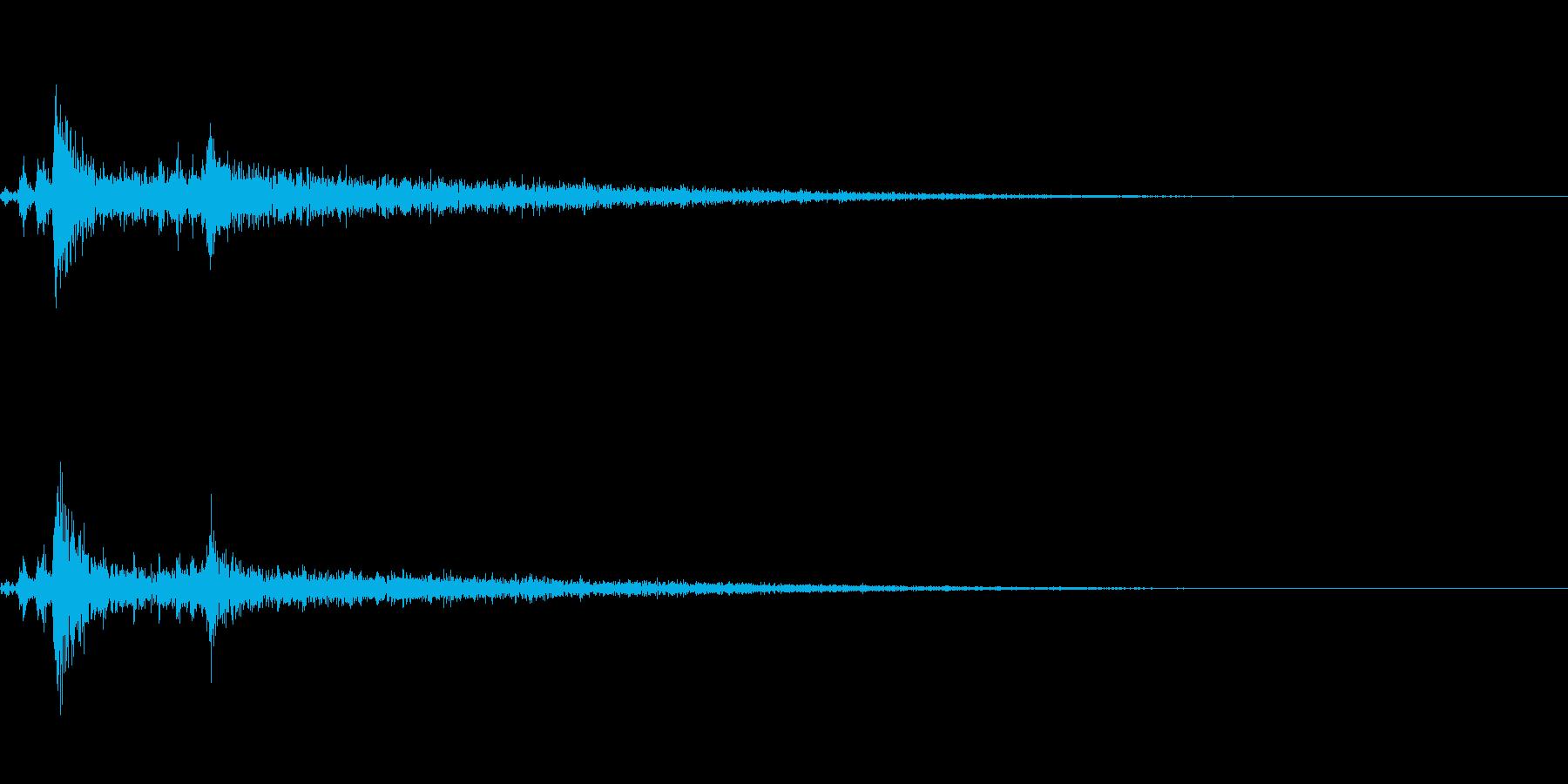 ライトイン(照明がつく音)の再生済みの波形