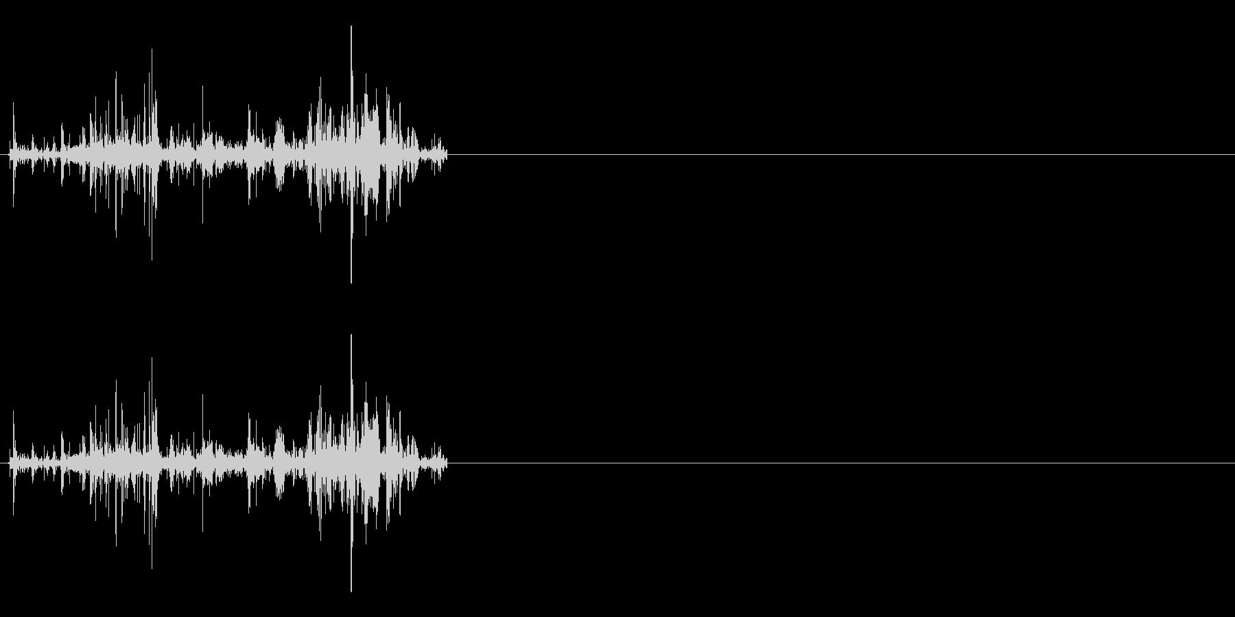 ファイヤ系、火力魔法効果音の未再生の波形