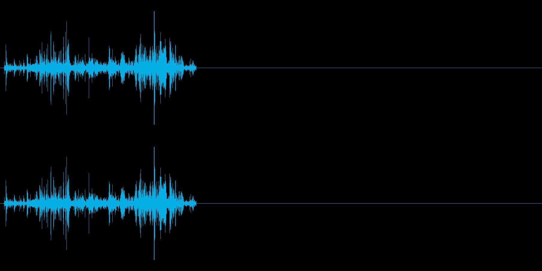 ファイヤ系、火力魔法効果音の再生済みの波形