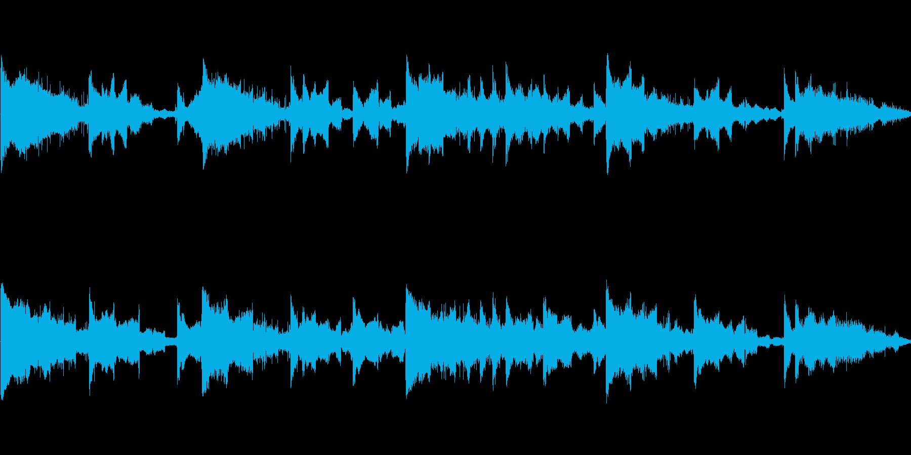 オリエンタルな楽器の幻想的な曲の再生済みの波形