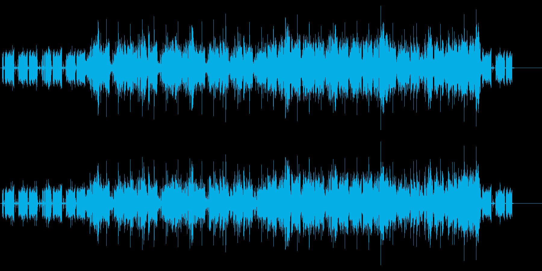 ゆったりとしたファンク・ミュージックの再生済みの波形