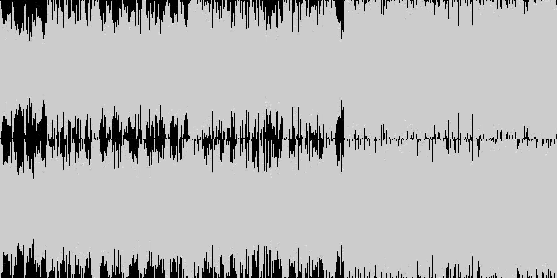 映画音楽的高速ブレイクス■ループ版の未再生の波形
