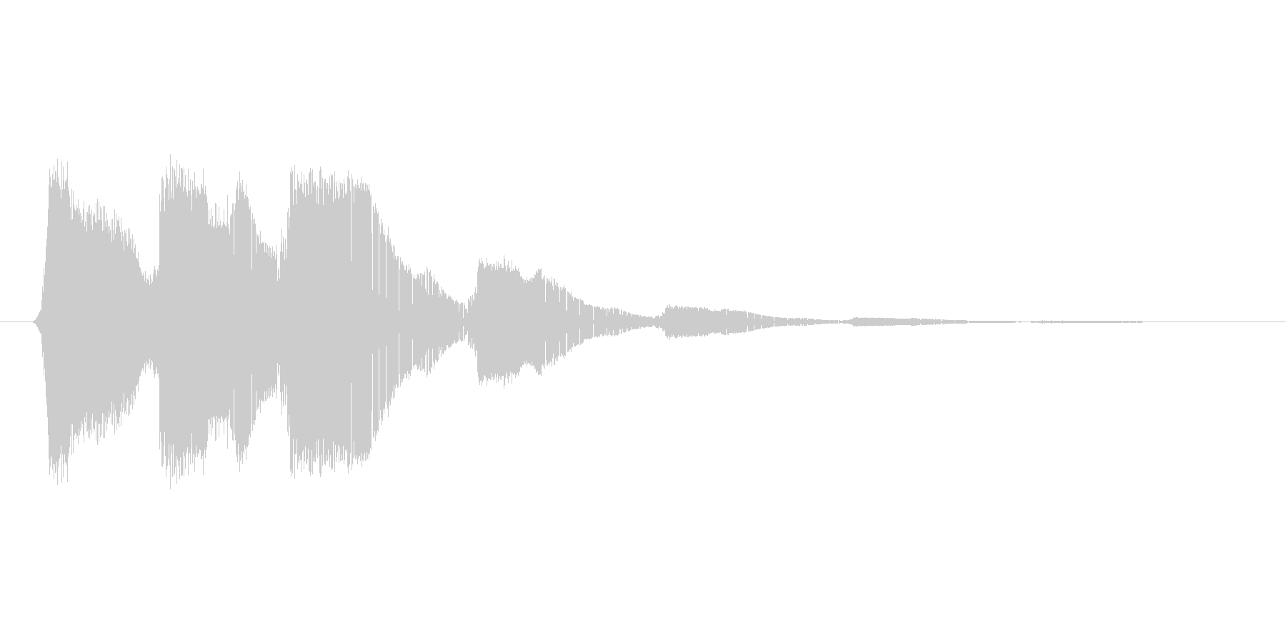ファミコン風効果音 キャンセル系 04の未再生の波形