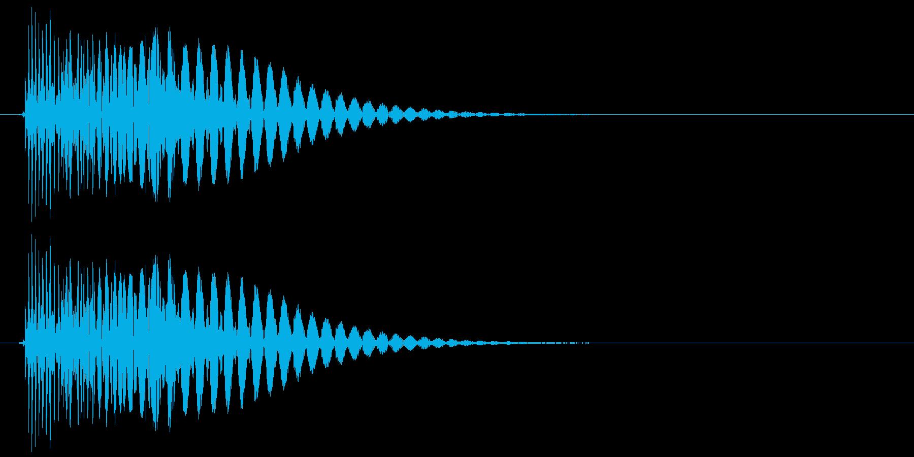 ドシュン 攻撃や刺さるような音の再生済みの波形