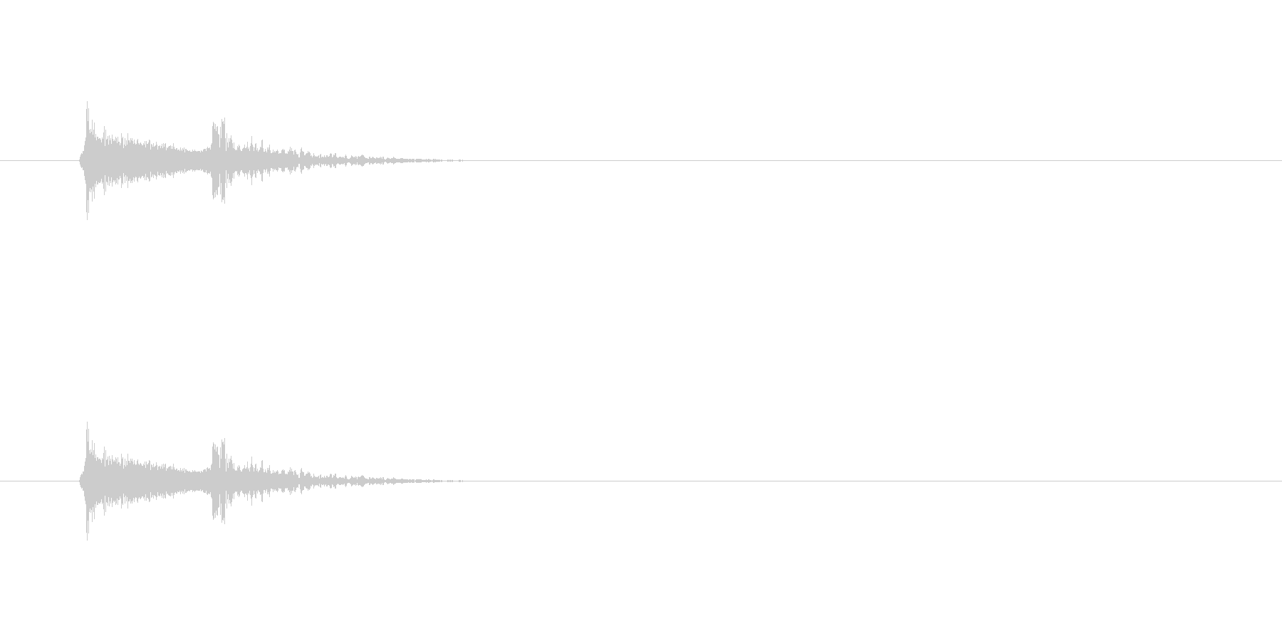 【アクセント40-1】の未再生の波形