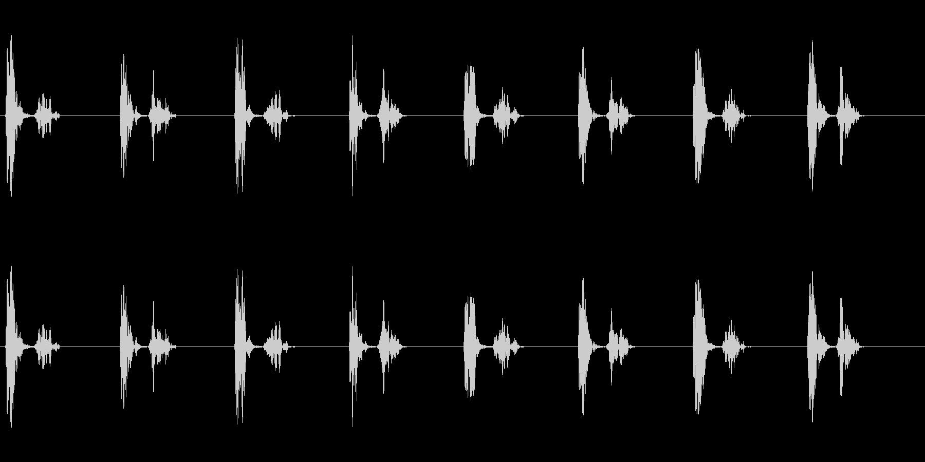 きゅむっ、きゅむっ…(足音、丸い、肉球)の未再生の波形