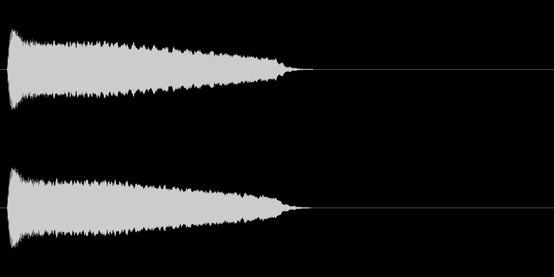 ピューーーン(逃げる音)の未再生の波形
