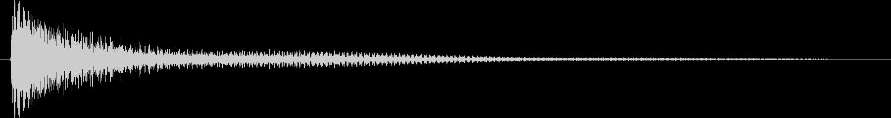 ガーンと言うショックなピアノ効果音高音の未再生の波形