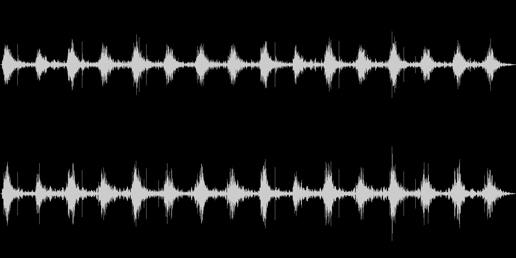 足音 行進の音(軍隊、兵隊、大人数等)4の未再生の波形
