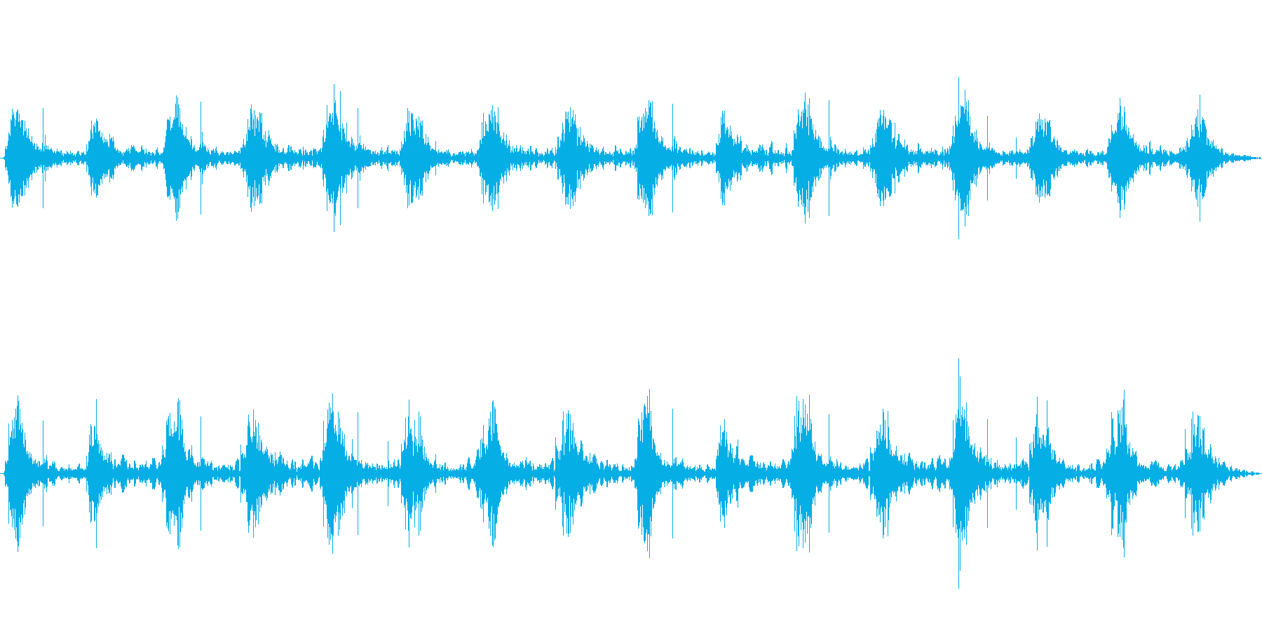 足音 行進の音(軍隊、兵隊、大人数等)4の再生済みの波形