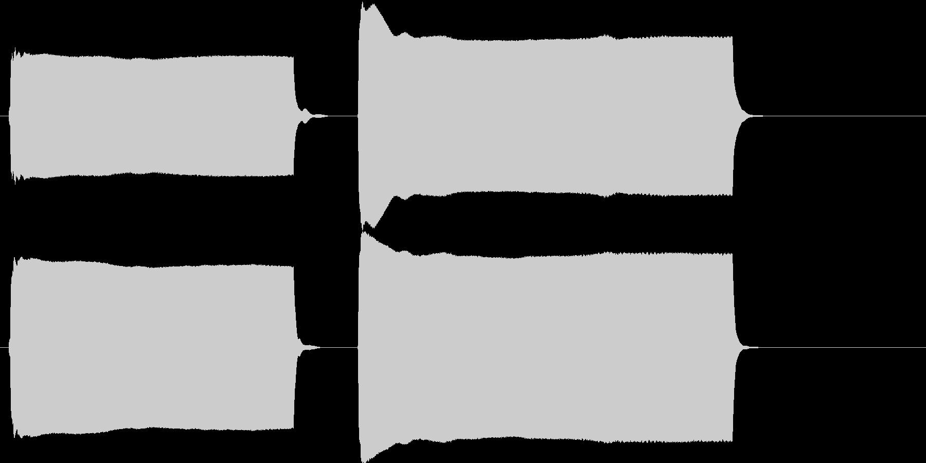 豆腐屋の音の未再生の波形