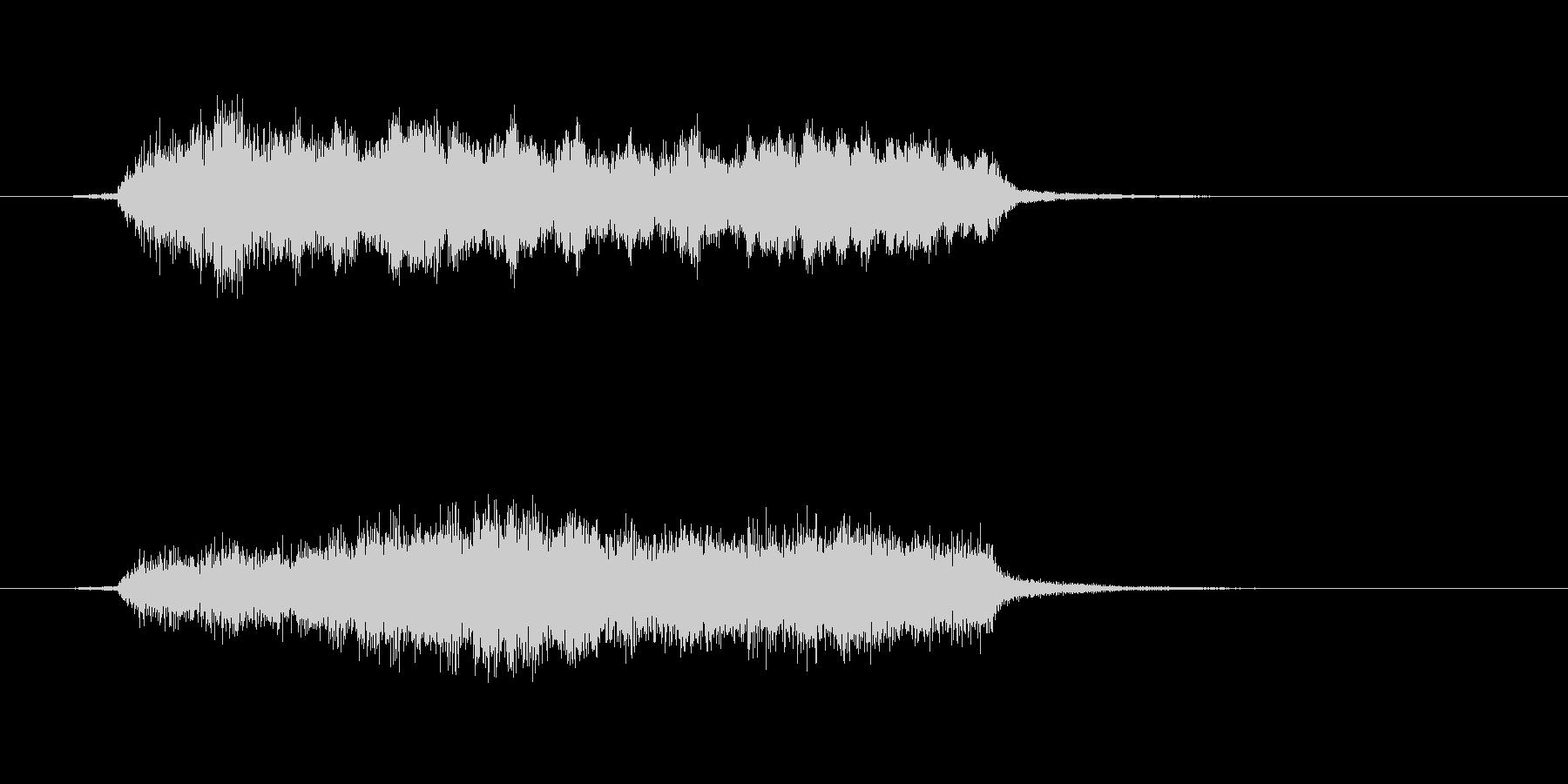 カッコいいオーケストラのジングルの未再生の波形