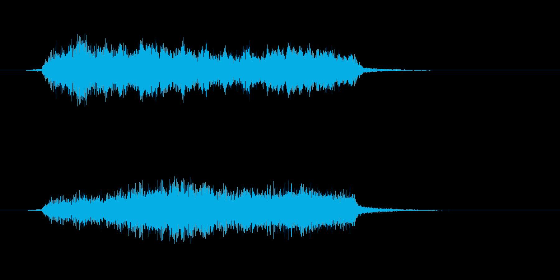 カッコいいオーケストラのジングルの再生済みの波形