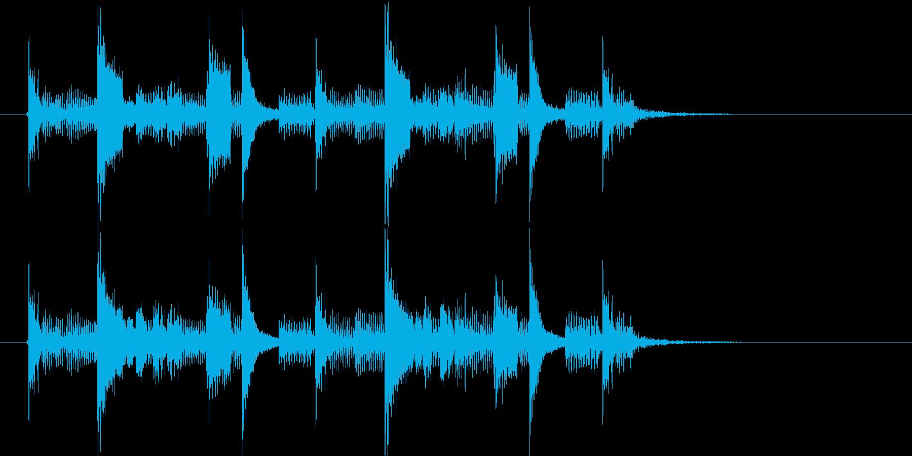 ソウルミュージックのサンプリング・ループの再生済みの波形