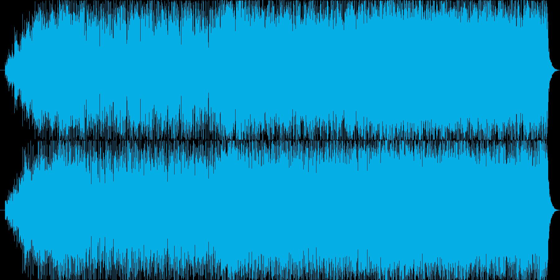 ワクワクするようなエレクトロポップの再生済みの波形