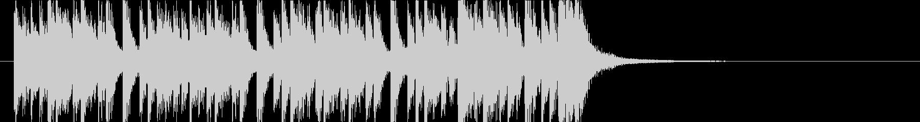 オシャレでロックなピアノジングルの未再生の波形