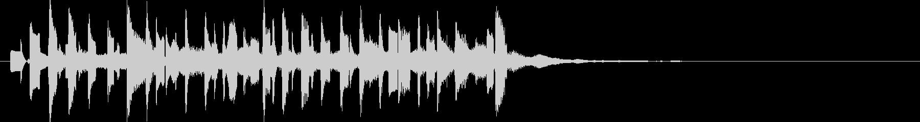 電子音中心のトキメキ系ジングルの未再生の波形
