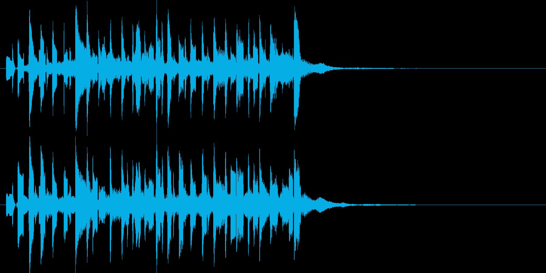 電子音中心のトキメキ系ジングルの再生済みの波形
