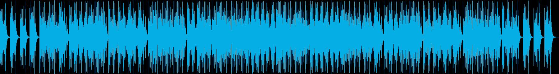 ファンタジーなシンセ・オルゴール系曲の再生済みの波形