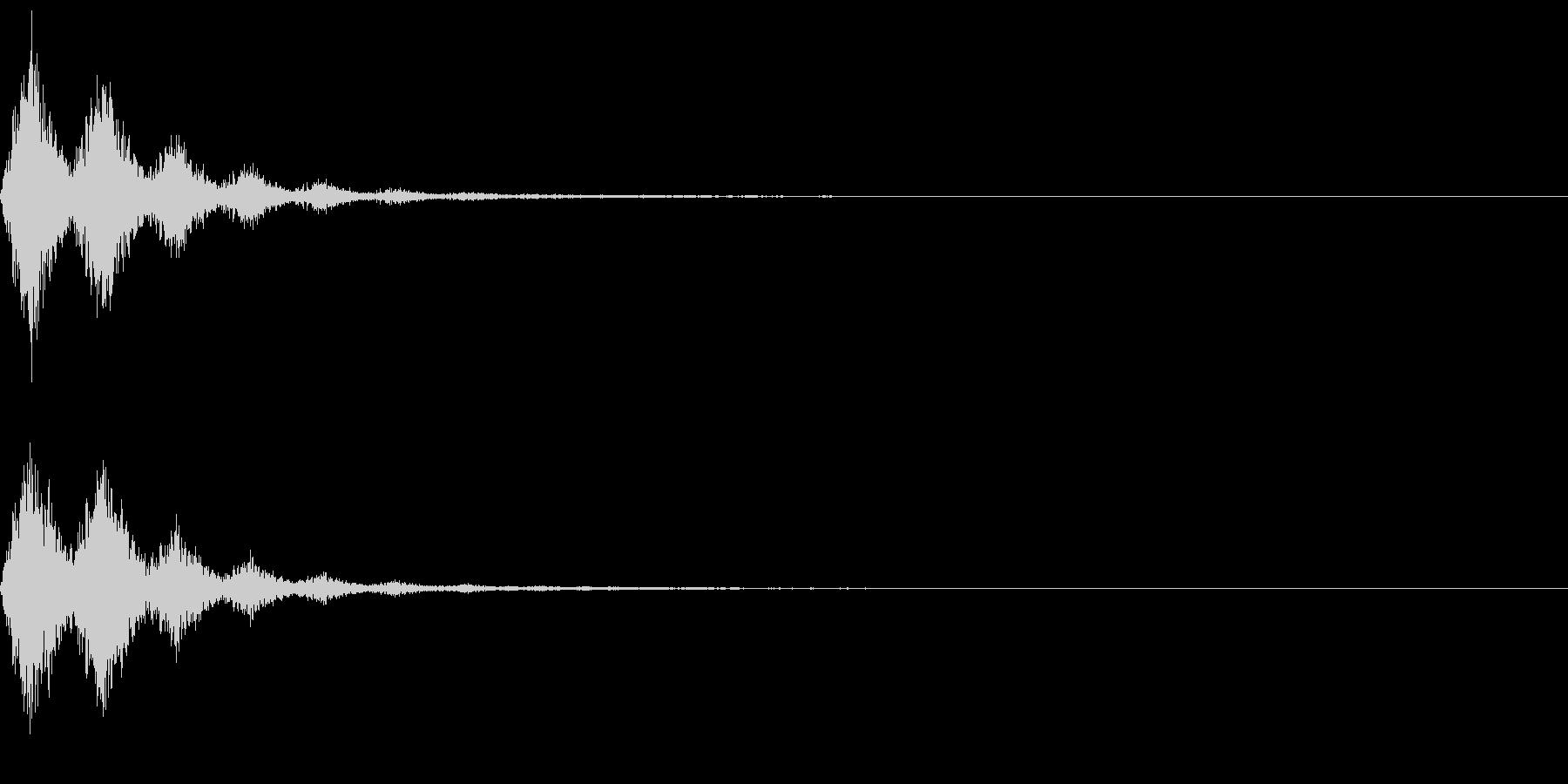 Ninjya 忍者 クナイ攻撃SE 13の未再生の波形