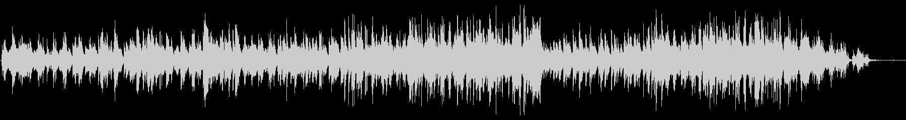 メロディアスで美しいバラードのピアノソロの未再生の波形