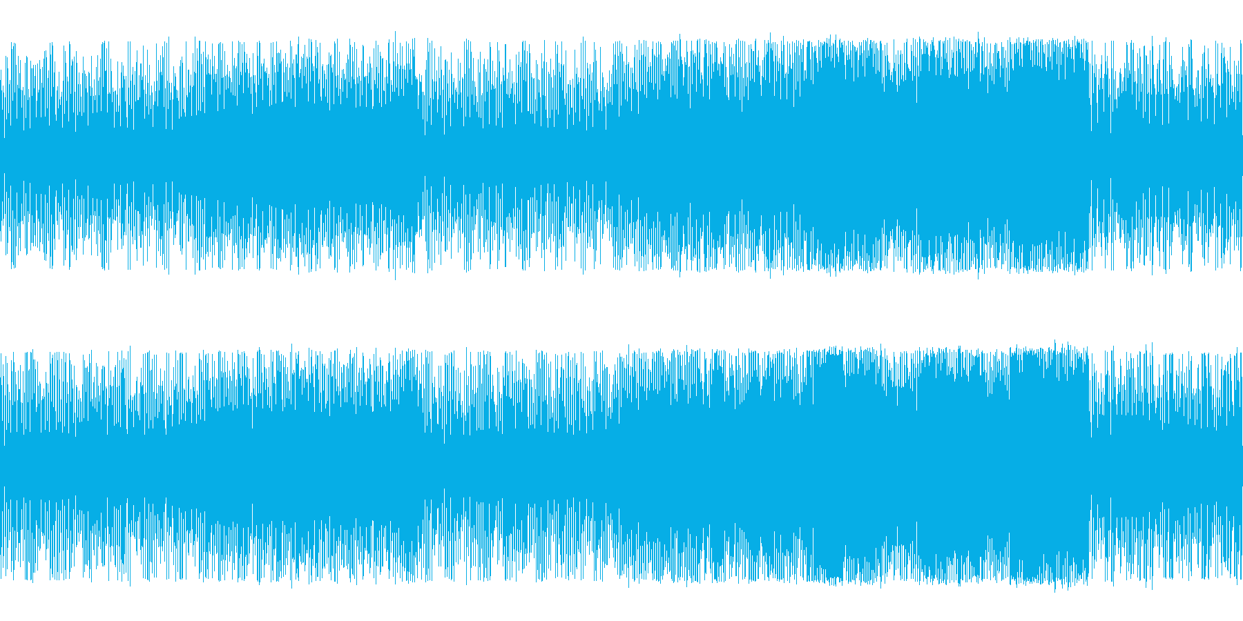 アクション向きなシリアスチップチューンの再生済みの波形