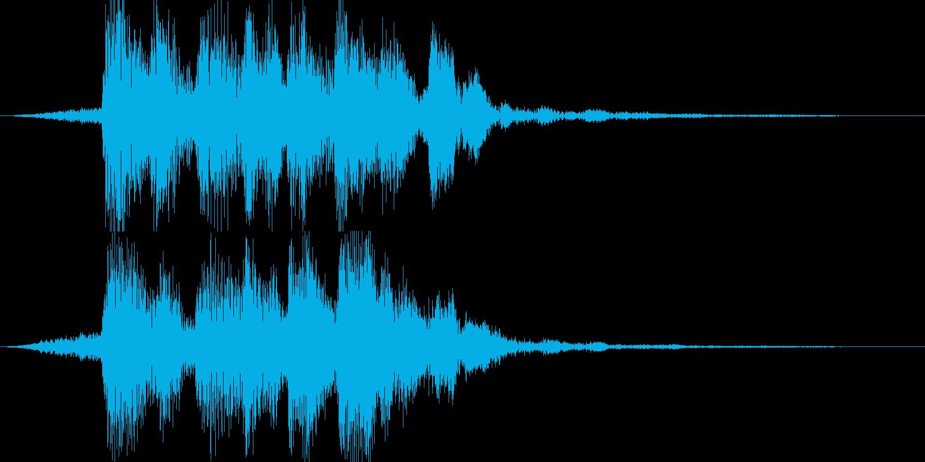 【ジングル】不思議系ジングルの再生済みの波形